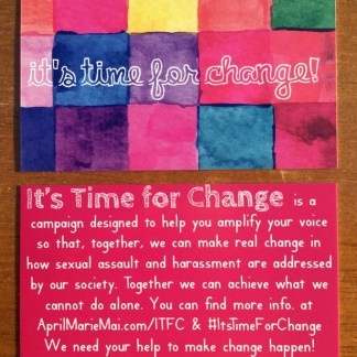 It's Time for Change Business Cards by April Marie Mai