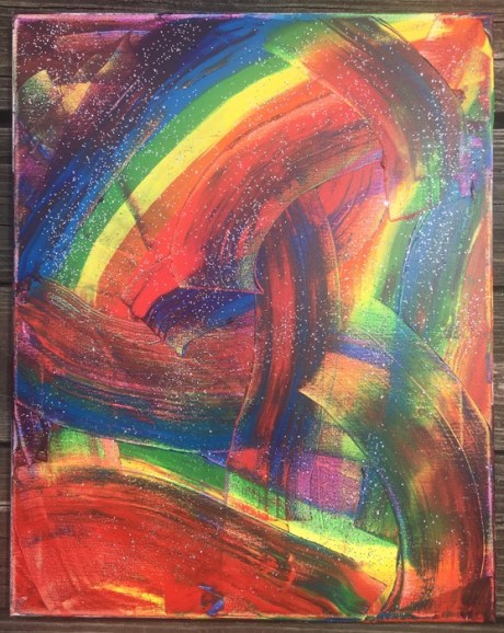 Rainbow Abstract 1 by April Marie Mai