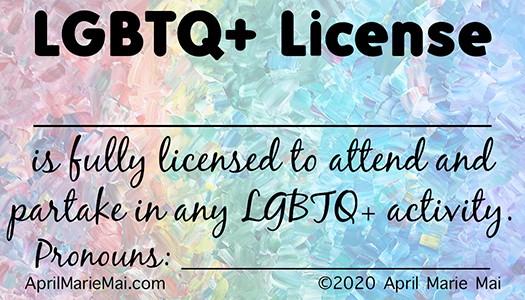 LGBTQ+ License