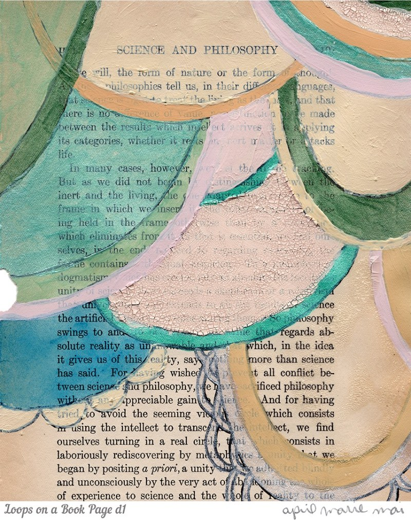 Loops on a Book Page Detail 1 Print
