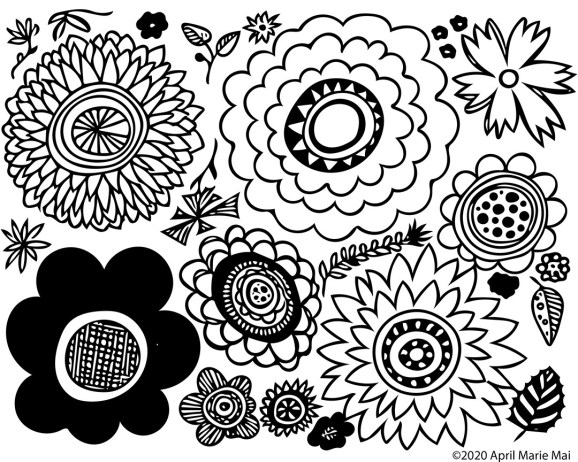 Flowers Galore Coloring Page