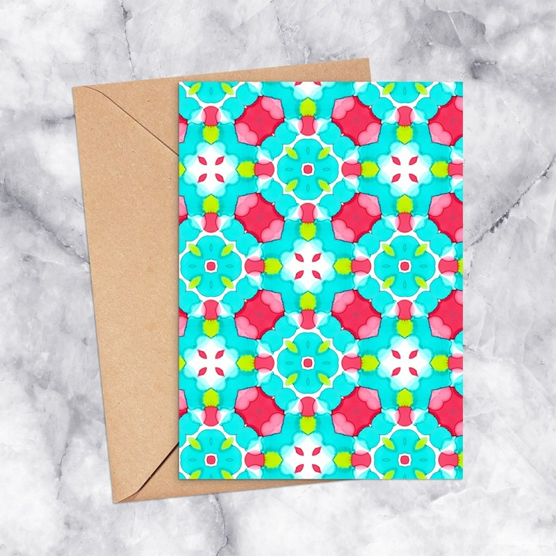 Printable Card Kaleidoscope 2304