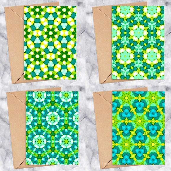 Kaleidoscope Printable Greeting Card Bundle 2