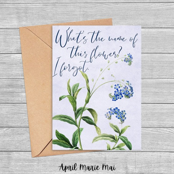 Congrats, Grad! Blue & Gold Bouquet Printable Greeting Card (Copy)