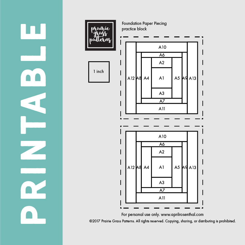 graphic relating to Free Printable Paper Piecing Patterns for Quilting identified as Quilting Essentials: Basis Paper Piecing 101 april rosenthal