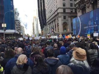 Anti Trump rally NYC crowds