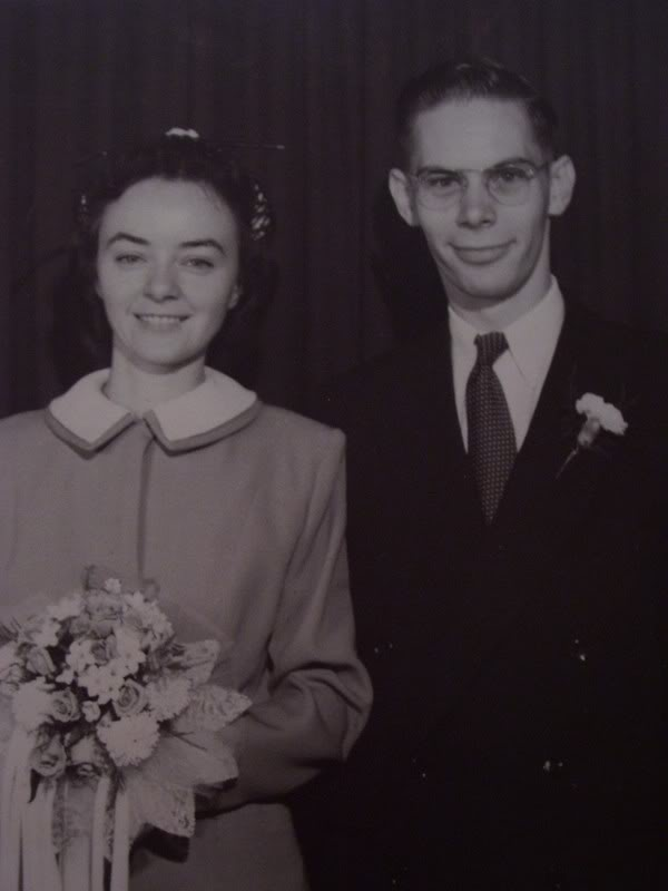 Nana and Papa, on their wedding day | April Tells All