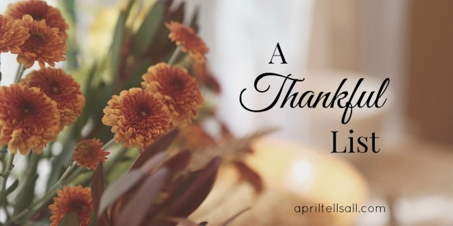 A Thankful List
