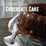 Snow Day Chocolate Cake