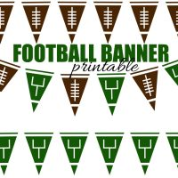 Football Pennant Banner Free Printable