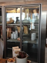 Cured meats hanging