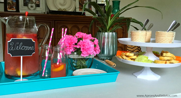 How to set up a summer snack tray #DipintoMeze