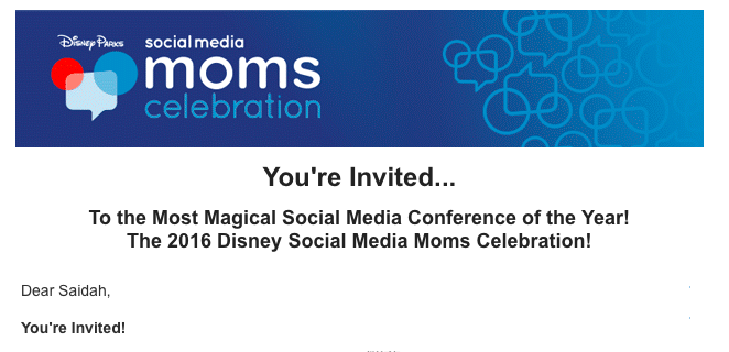 Getting Invited to the Disney Social Media Moms Celebration