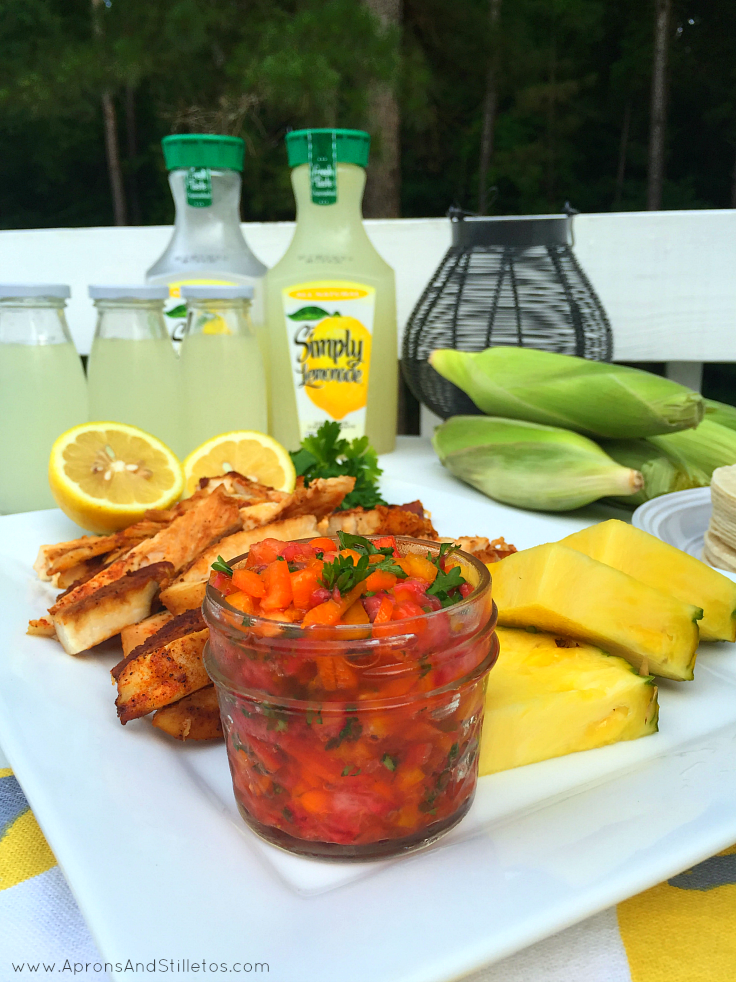 Pineapple and Sweet Pepper Salsa is loaded with flavor and the perfect topping for tacos!