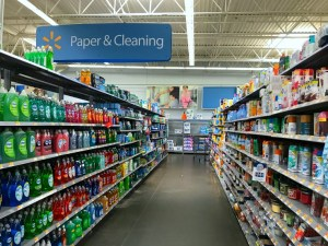 Walmart Cleaning Product Aisle