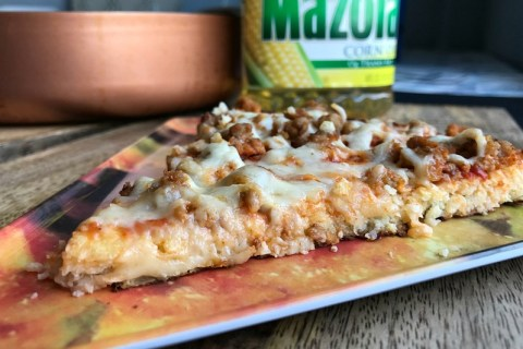 Cauliflower Crust Cheeseburger Pizza