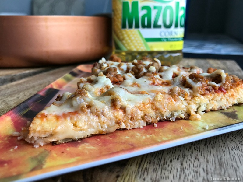 Better for you Cheeseburger Pizza