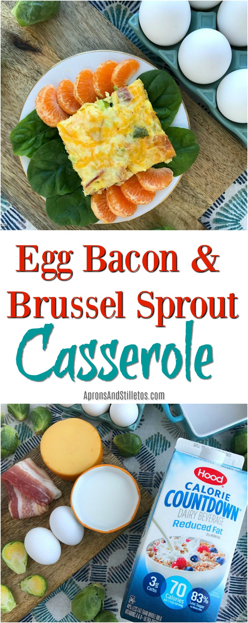 Egg Bacon and Brussel Sprout Casserole