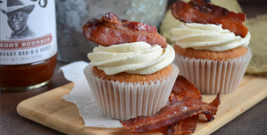 Hickory Bourbon and Bacon Cupcakes