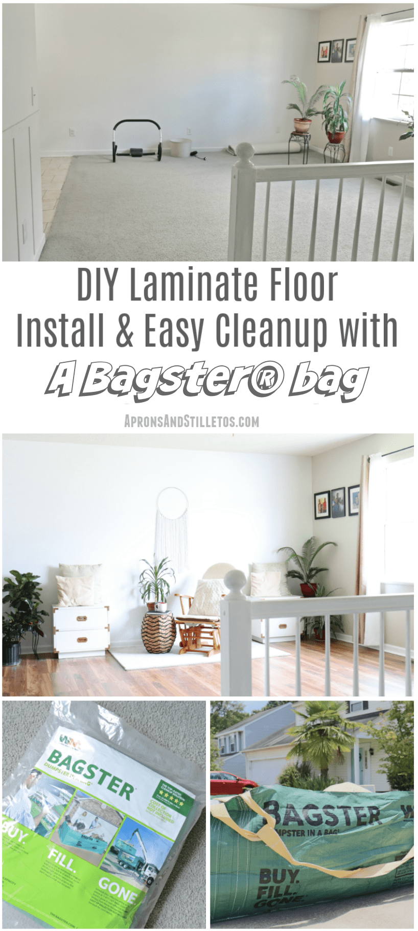 DIY Laminate Floor Install & Easy Cleanup with Bagster®bag