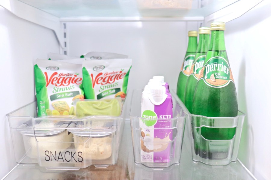 How to Organize Snacks with Refrigerator Bins