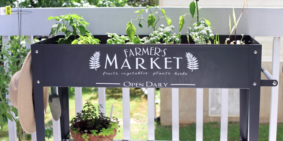 FREE Farmer's Market SVG File + DIY Farmer's Market Raised Garden Bed Tutorial