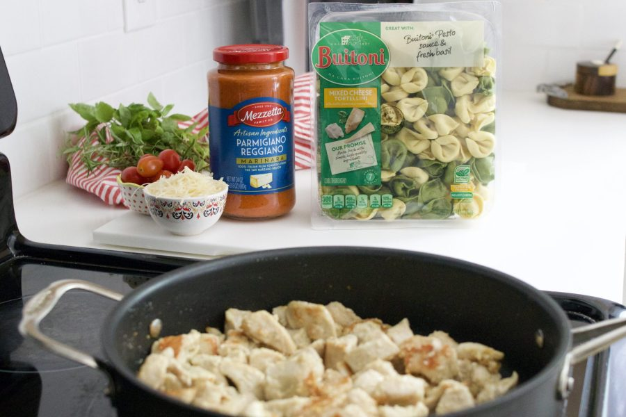 How to Make a One-Pot Chicken Parmesan and Tortellini at Home