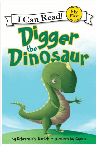 FREE Digger the Dinosaur book! Nook Freebie