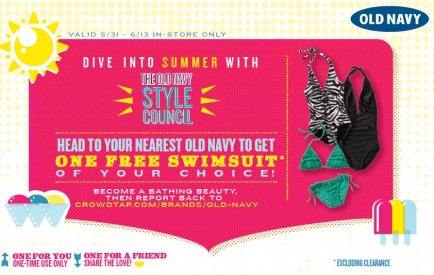 (Possible) FREE Old Navy Swimsuits!!
