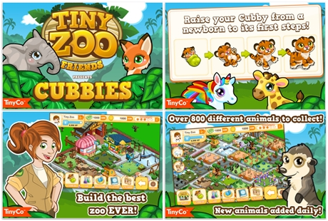 FREE Tiny Zoo Friends iPhone and iPad App for Kids
