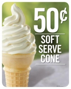 Burger King Sfit Serve Cone