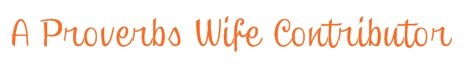 A Proverbs Wife Contributors WANTED!