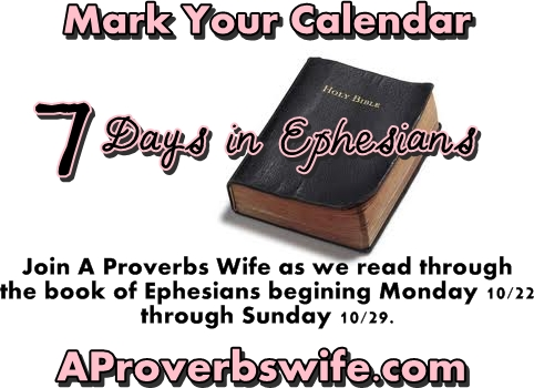 7 Days in Epehesians | A Proverbs Wife