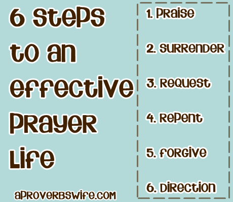 6 Steps to an Effective Prayer Life