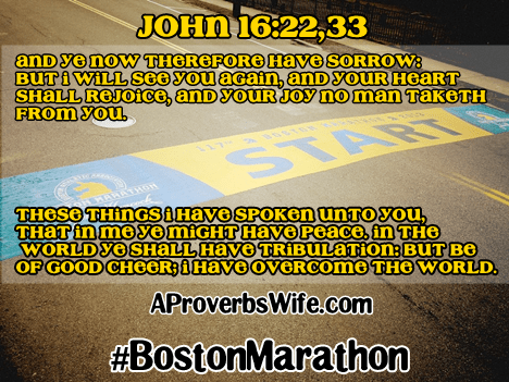 Boston Marathon - AProverbsWife.com