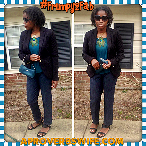 What I Wore This Week #Frumpy2Fab Challenge!!