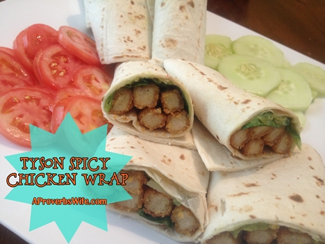 Recipe: Spicy Tyson Chicken Fry Wrap