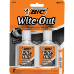 BIC Wite-Out® Quick Dry correction fluid, 2pack