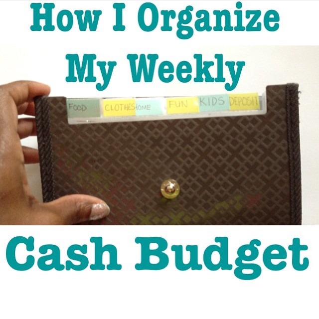 How I Organize My Weekly Cash Budget