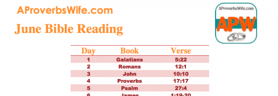 Free June Bible Reading Plan