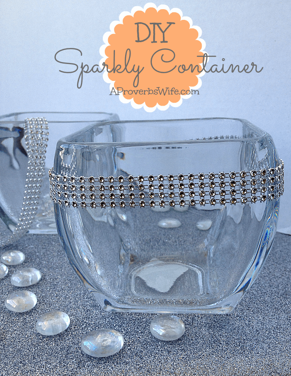 DIY Sparkly Container APW2