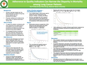 Adherence to Quality Indicators Can Narrow the Disparity in Mortality among Lung Cancer Patients