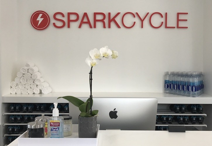 Sparkcycle Liberty Station-Indoor Cycling Fitness Studio Construction