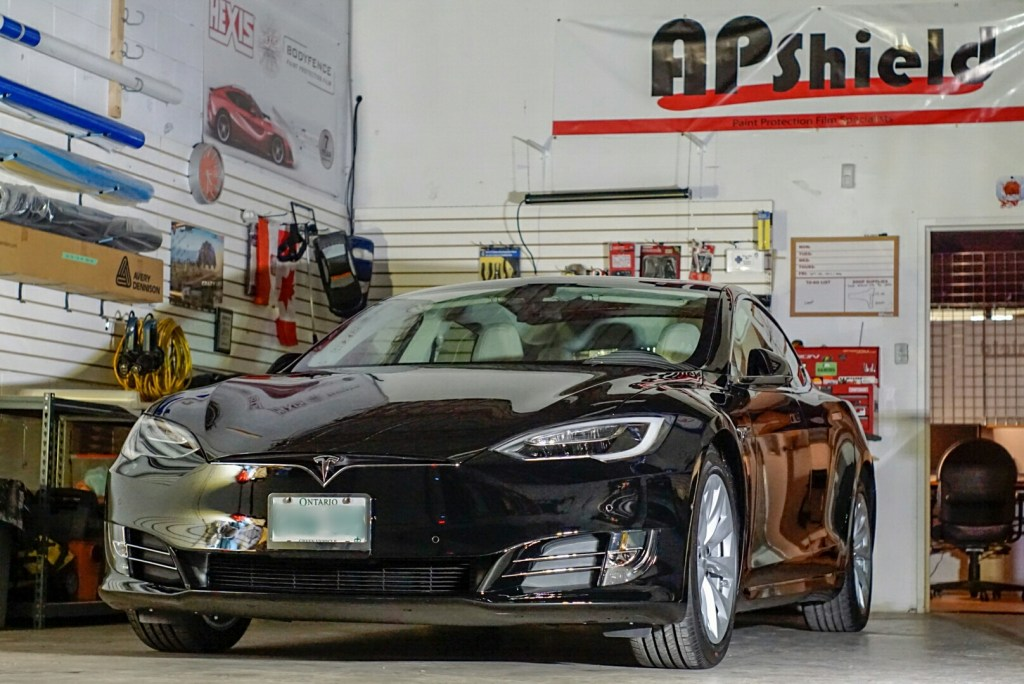 Tesla Model S wrapped in XPEL ultimate PPF and coated with Ceramic Pro