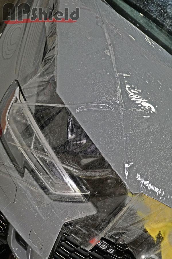 Bulk cut the Audi RS3 hood in clearbra