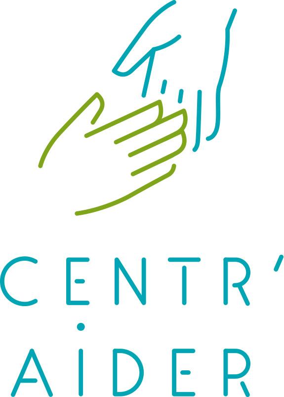 Logo de notre dispositif Centr'Aider en couleur avec le fond blanc