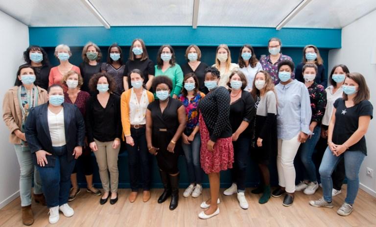 Photo de l'équipe complète de la Maison des Aînés et des Aidants Paris Centre