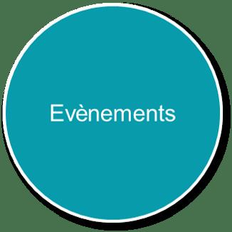 Bulle bleu avec texte pour présenter nos évènement