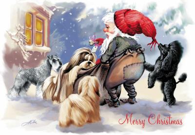 Welcoming Santa Paws ...