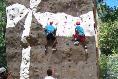 Rock Climbing at the Achievers Roundup